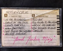 Nikki Sixx Storage Gems:  Mötley Crüe 'Shout At The Devil' Final Mix on Cassette