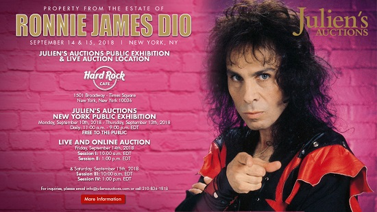 Ronnie James Dio Auction - Personal Items/Property to be Auctioned - Julien's Auctions - Hard Rock Cafe