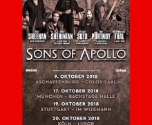 Sons of Apollo Cancel Dynamo, Wacken, Prog in Park II Shows, Add Germany Dates – 2018 Cancelled