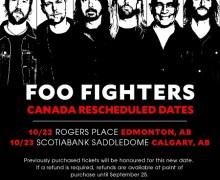 Foo Fighters Edmonton/Calgary 2018 Tour Dates Rescheduled – Cancel – Postponed – NEW