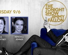 Paul McCartney on Jimmy Fallon – The Tonight Show 2018 – Kendall Jenner