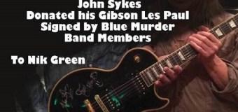 John Sykes Gibson Les Paul Auction – Signed by Blue Murder – Carmine Appice, Tony Franklin