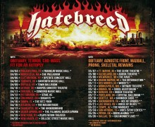 Watch Hatebreed 25th Anniversary Tour Trailer/Dates/Tickets – Obituary, Cro-Mags, Autopsy, Agnostic Front, Prong
