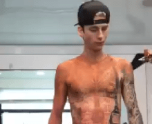 Watch Machine Gun Kelly Transform into Mötley Crüe's Tommy Lee for 'The Dirt' – VIDEO