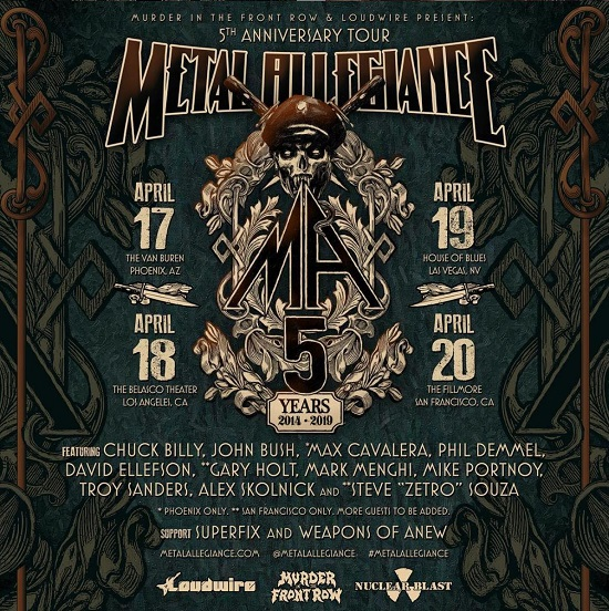 Metal Allegiance / Murder in the Front Row @ The Fillmore in San Francisco - Tickets