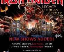 Iron Maiden: Final Shows of the Legacy of the Beast Tour 2019 Announced – San Paulo, Porto Alegre, Brazil