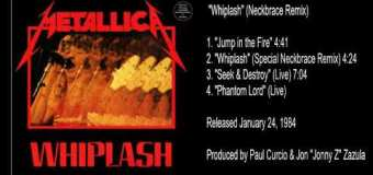 """Metallica """"Whiplash"""" EP Remix Story via Producer / Engineer Alex Perialas – Special Neckbrace"""