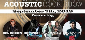 Dokken, Jack Russell (Great White), Winger, Eric Martin (Mr. Big) @ Beaver Dam, KY 2019 – Acoustic Performance