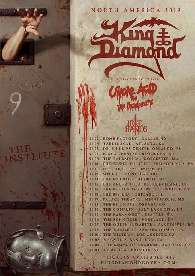 Diamond Tours 2020 Schedule King Diamond 2019/2020 Tour / New Album – Uncle Acid, Idle Hands