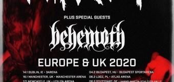 Slipknot / Behemoth 2020 Tour – Europe / UK Dates