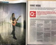 Vinnie Moore: Guitar World Magazine 2019 – UFO