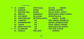 Bon Iver 2019 Europe/UK Tour – Lisbon, Madrid, Barcelona, Berlin, Amsterdam, London….