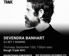 Devendra Banhart DJ Set/Signing @ Rough Trade in Brooklyn, NY – New Album 2019