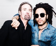 Lenny Kravitz w/ Prince and the Revolution Drummer Bobby Z in Minneapolis