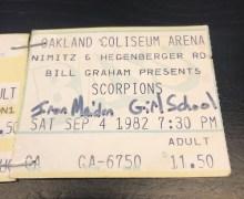 """Phil Demmel, """"Maiden Forever"""" 1982 Oakland Coliseum Arena"""