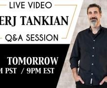 System of a Down's Serj Tankian Announces 2019 LiveStream Q&A
