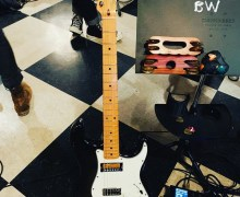 """Butch Walker, """"Cool Guitar Alert"""" Fender Squier Bullet w/ Bigsby & Gold Foil Pickups"""
