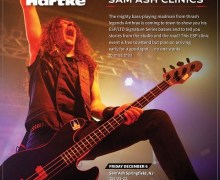 Anthrax: Frank Bello Bass Clinics @ Sam Ash NY & NJ – FREE