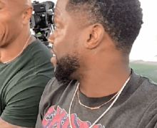 HOLD UP…Kevin Hart Is Wearing An Exodus T-Shirt w/ The Rock – Jumanji – Danny DeVito, Danny Glover