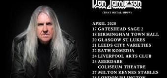 Saxon's Biff Byford: 2020 Solo UK Dates Announced w/ Don Jamieson – London, Leeds, Bath, Birmingham….