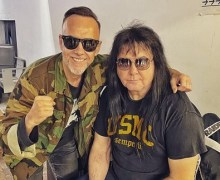 "Behemoth's Adam Darski: ""Met this legend at the airport in Mexico!"" Blackie Lawless of W.A.S.P. 2019"