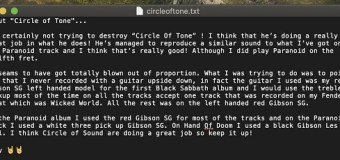 """Tony Iommi 'UnSlams' YouTube Guitar Instructor, Circle of Tone: """"I think that he's doing a really great job"""""""