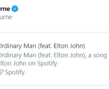 "Ozzy Osbourne w/ Elton John ""Ordinary Man"" – Listen"