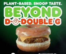 Snoop Dogg's Beyond Meat D-O-Double-G Sandwich @ Dunkin' Donuts