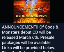 Ex-Stryper Bassist Timothy Gaines Announces New Band / Album – Of Gods & Monsters – 'Sons of Armageddon'