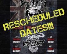 Sacred Reich / Vio-lence 2020 Australia Tour Dates Postponed – Canberra, Brisbane, Melbourne, Sydney, Adelaide