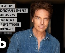 Richard Marx: Billboard Facebook Live At-Home Performance to Benefit Meals on Wheels America 2020