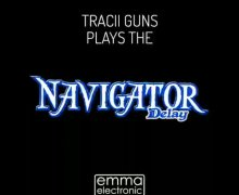Tracii Guns Demos the Navigator Delay Guitar Pedal by EMMA ELECTRONIC