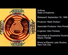 Anthrax Producer Talks 1988's 'State of Euphoria' – Alex Perialas Interview Excerpt