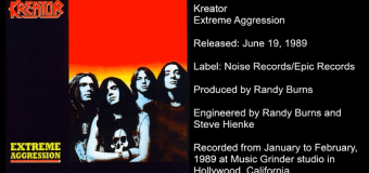 Kreator 'Extreme Aggression' Inside the 1989 Album – The full in bloom Interview