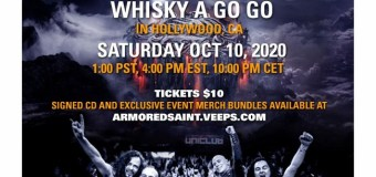 Armored Saint Live Stream 2020 @ The Whisky A Go Go – Tickets – 'Punching the Sky' Record Release Concert
