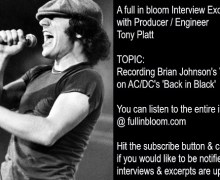 AC/DC Engineer Tony Platt Reveals How He Recorded Brian Johnson's Vocals on 'Back in Black' w/ Mutt Lange