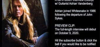 Adrian Vandenberg Talks Whitesnake, David Coverdale, John Sykes, Thin Lizzy – Interview Excerpt 2020