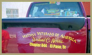 Custom Vietnam Veterans vinyl decal.