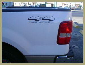 4x4 Ford Off Road Decal