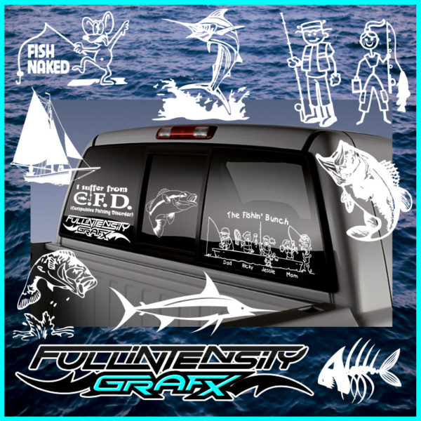 fishing family decal gift idea