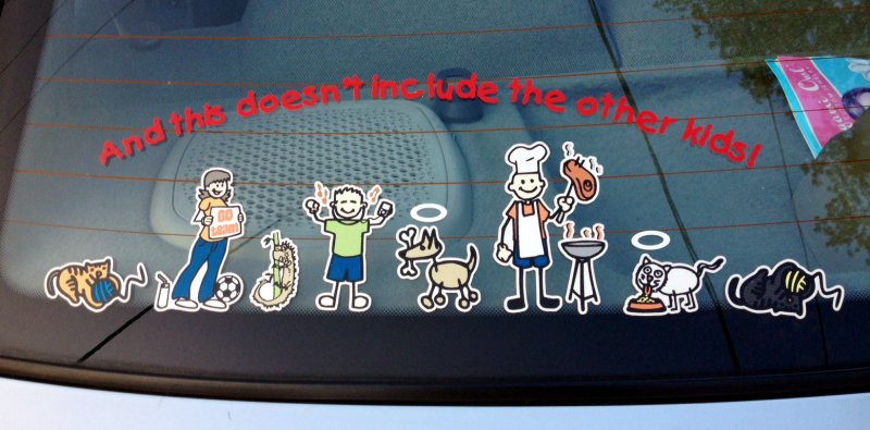 And this doesn't include the other kids, large family sticker