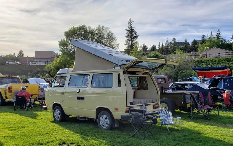 Volkswagon van with pop-top