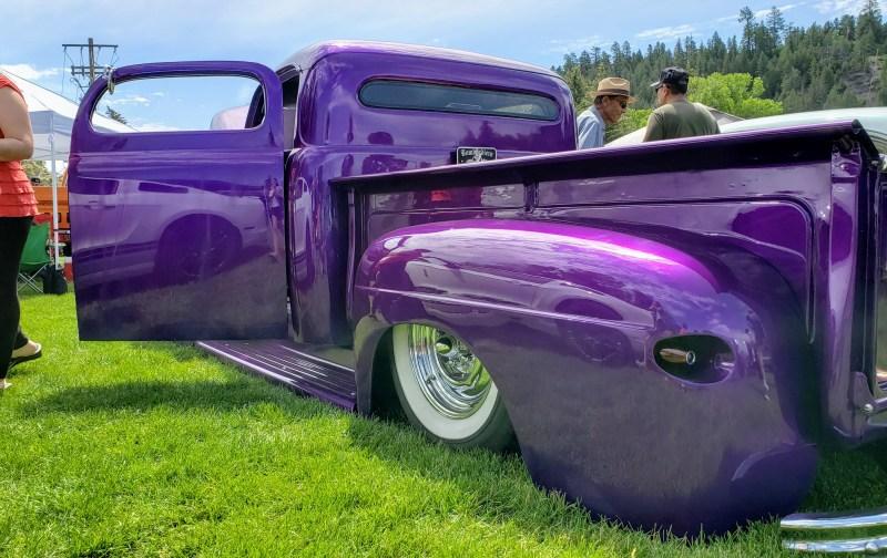 oldie lowered truck purple