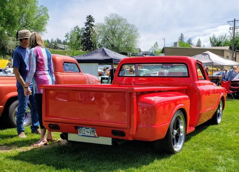 Red Chevy chop-top oldie
