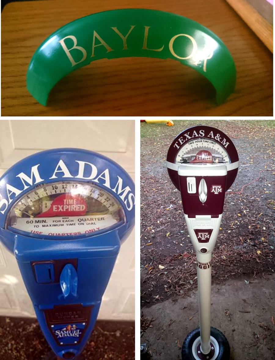 vintagee parking meter decals