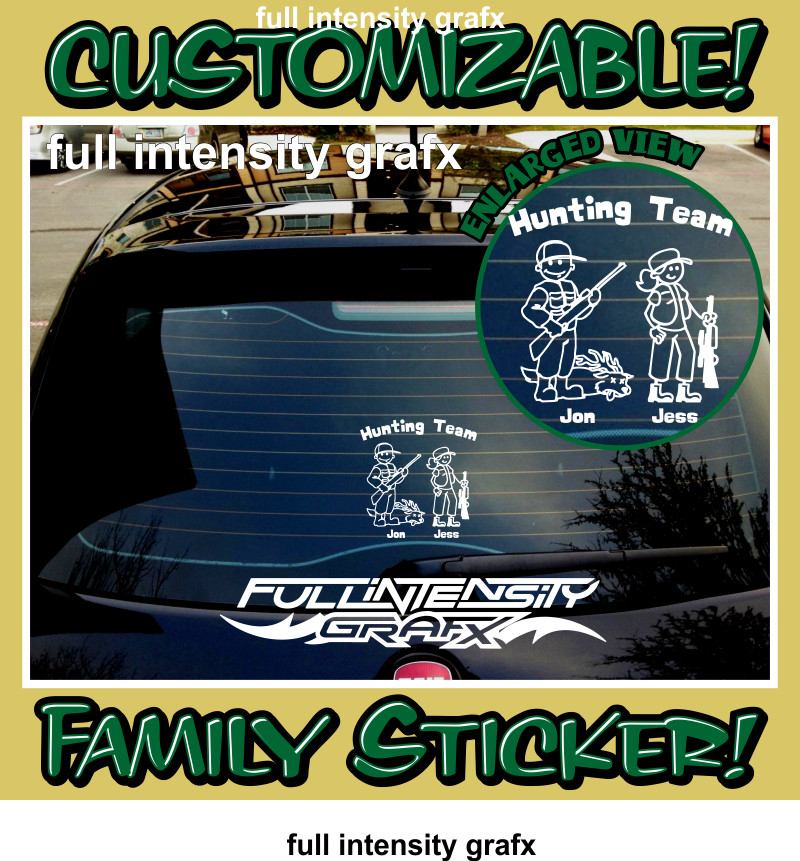 hunting family sticker