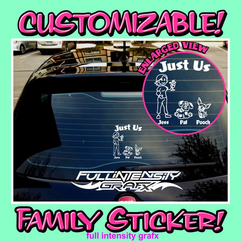 single mom family sticker