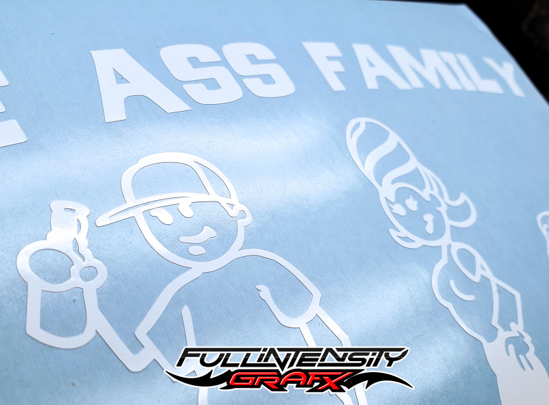 Ass Family Sticker Close-Up
