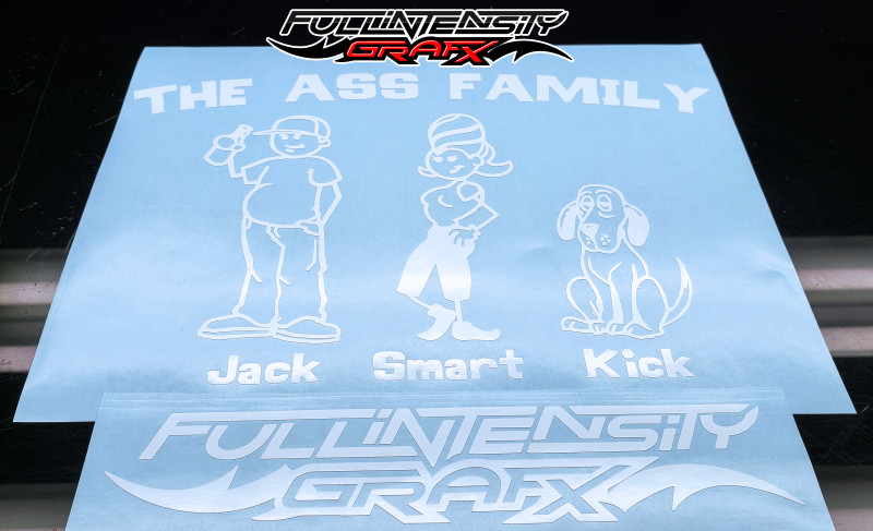 Ass Family Car Sticker