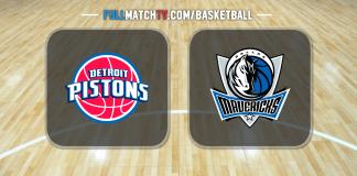 Detroit Pistons vs Dallas Mavericks
